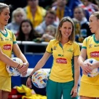 Alanna Antcliff - Team physio with the Australian Netball Diamonds
