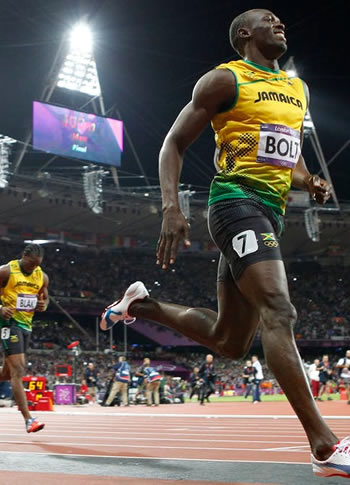 Usain Bolt - In the 100m final, every hundredth of a second gained or lost in the race counts.